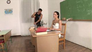 Aroused Janitor Cleans Out a Teachers Pussy Aliz With His Dick
