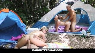 Daughterswap- Horny Daughters Coitus Dads on Camping Trip